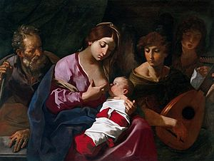 Flaminio Torre - Flaminio Torre, Holy Family with angel musicians.