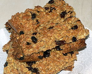 Flapjack (oat bar) - Flapjacks with added dried fruit
