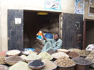 Flat Stanley - Flat Stanley befriends a shop owner in Kano, Nigeria