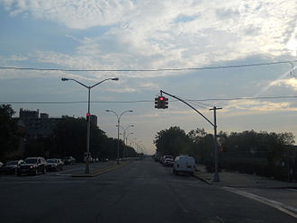 Spring Creek, Brooklyn - Flatlands Avenue and Schenck Avenue in 2011. The lot to the right has yet to be developed.