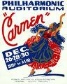 """Flickr - …trialsanderrors - Philharmonic Auditorium, """"Carmen"""", WPA poster, ca. 1939.jpg"""