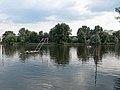 Floating basketball goals, Boating Lake, 2018 Oroszlány.jpg
