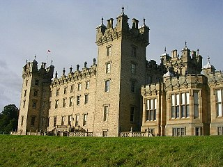 Floors Castle country house in Roxburghshire, south-east Scotland