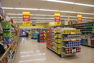 Food Lion - Interior of a store in Southern Shores, North Carolina