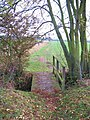 Footbridge on the Wolds Way path - geograph.org.uk - 1568009.jpg