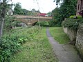 Footpath leading underneath the road bridge - geograph.org.uk - 943720.jpg