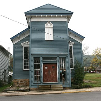 Wardensville, West Virginia - Image: Former Presbyterian Church Wardensville
