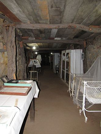 Underground Hospital, Mount Isa - Tunnel in underground Hospital, 2013