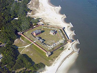 Fort Clinch - Fort Clinch aerial view, October 2003