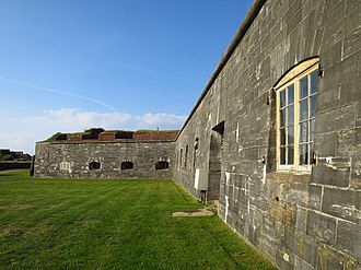 Fort Cumberland (England) - Image: Fort Cumberland bastion on east side of fort