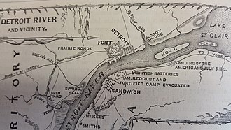 Fort Detroit - Location of Fort Detroit