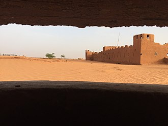 Madama - View on Fort Madama from the North, June 2017