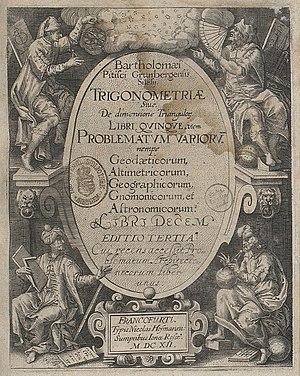 Bartholomaeus Pitiscus - Image: Fotothek df tg 0004503 Geometrie ^ Trigonometrie