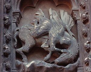 Raffigurazione della superbia. Cattedrale di Chartres