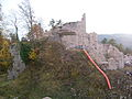 France Otrott Kagenfels castle during 2009 restoration 3.jpg