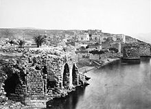 Ruins of ancient Tiberias, 1862.的位置