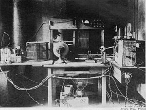 Frank Conrad - Conrad's experimental radio station, 8XK, was located in his home's garage.