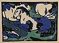 Franz Marc. Horses Resting (1911) — woodcut (24449116983).jpg