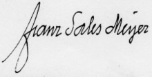 Signature of Franz Sales Meyer