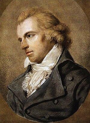 Friedrich Schiller - Portrait of Schiller by Ludovike Simanowiz (1794)