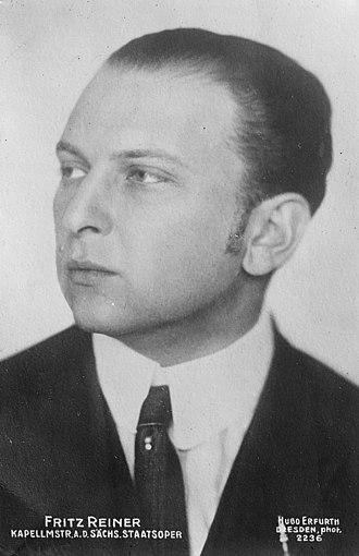 Fritz Reiner - Image: Fritz Reiner Bain