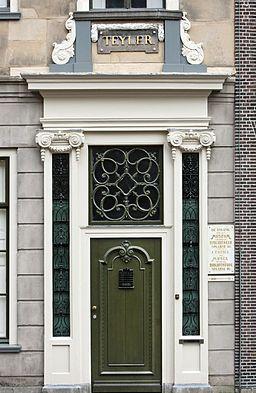 Front door of Teylers Fundatiehuis, Haarlem