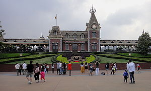 Hong Kong Disneyland - Front view of Disneyland