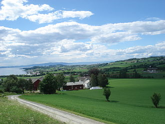 Frosta - Frosta seen from Hellan looking towards Trondheim
