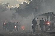 Fumigènes dans une manifestation parisienne (2008.11.13)-Romanceor