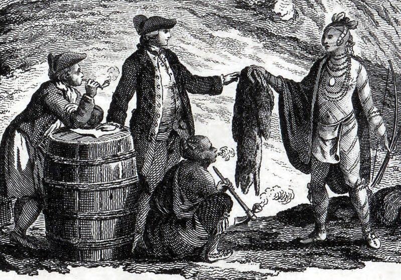 Fichier:Fur traders in canada 1777.jpg
