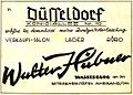 Furrier Walter Hübner,Wasserburg and Düsseldorf, advertisement 1950.jpg