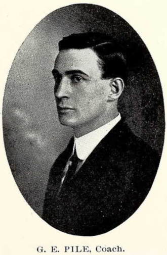 George E. Pyle - G. E. Pyle from 1911 Seminole yearbook