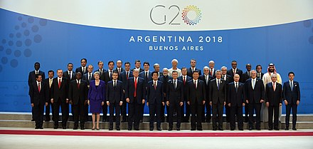 Chinese leader Xi Jinping and G20 leaders in Buenos Aires, 2018. G20 Argentina 2018.jpg