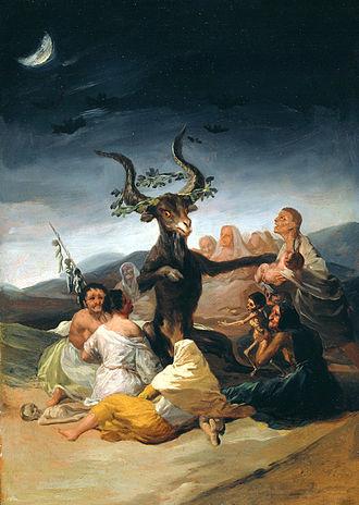 Witches' Sabbath (Goya, 1798) - Image: GOYA El aquelarre (Museo Lázaro Galdiano, Madrid, 1797 98)