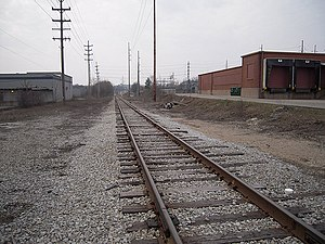 Grand Rapids Eastern Railroad - Grand Rapids Eastern Railroad, looking west from Fuller in Grand Rapids