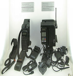 Two 1991 GSM mobile phones