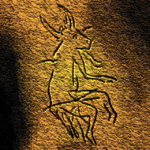 Picture of a half-human, half-animal being in a Paleolithic cave painting in Dordogne. France. Archeologists believe that cave paintings of half-human, half-animal beings may be evidence for early shamanic practices during the Paleolithic.