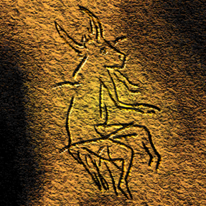Prehistoric religion - Picture of a half-animal half-human being in a Paleolithic cave painting in Dordogne, France which archeologists believe may provide evidence for early shamanic practices