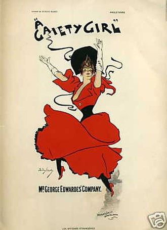 Musical theatre - A Gaiety Girl (1893) was one of the first hit musicals