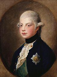 Wilhelm im Jahr 1782 (Gemälde von Thomas Gainsborough) (Quelle: Wikimedia)