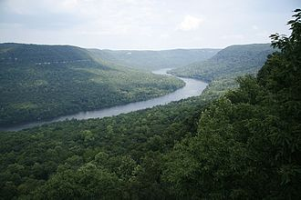 Tennessee River Gorge - View of the gorge from Snoopers Rock