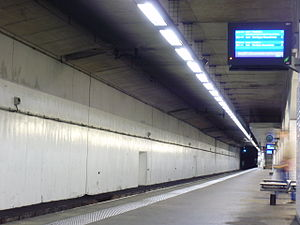 Saint-Ouen (Paris RER) - The station platforms