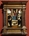 Garofalo, madonna col bambino tra i ss. domenico e caterina da siena, 1499-1502 ca.jpg
