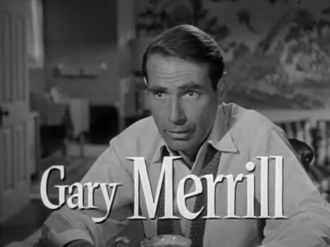 Gary Merrill - Merrill in the trailer for A Blueprint for Murder (1953)