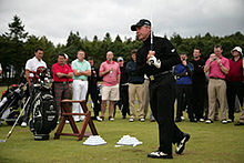 Gary Player swings at the 2009 Gary Player।nvitational