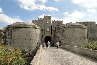 Fortifications of Rhodes - Gate d'Amboise