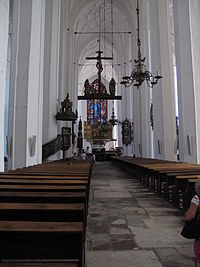 Gdańsk, Church of St. Mary, main nave to altar.JPG