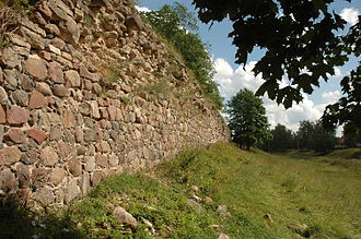 Gdov - The wall of the Gdov Kremlin