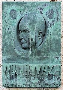 Gedenktafel Olympischer Platz 4 (West) Werner March.jpg