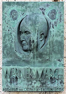 Gedenktafel Olympischer Platz 4 (West) Werner March.jpg